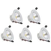 Luces LED Descendentes Blanco Cálido Blanco Fresco LED 5 piezas