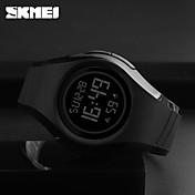 SKMEI Hombre Reloj digital Reloj Deportivo Japonés Digital Despertador Resistente al Agua Noctilucente Caucho Banda Casual Cool Negro