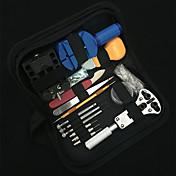 Kit de herramientas de reparación de relojes caja trasera ajustable abridor de tapa extractor tornillo relojera batería abierta