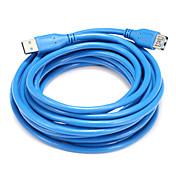 USB 3.0 Adaptador, USB 3.0 to USB 3.0 Adaptador Macho - Hembra 5,0 m (16 pies)