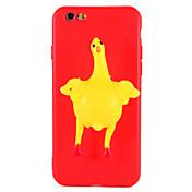 Funda Para Apple iPhone 7 Plus iPhone 7 Blando Manualidades Funda Trasera Dibujo 3D Animal Suave TPU para iPhone 7 Plus iPhone 7 iPhone