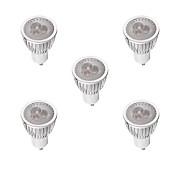 3W 260-300 lm GU10 LED-spotpærer MR16 3 leds Høyeffekts-LED Mulighet for demping Varm hvit Hvit AC 220-240V
