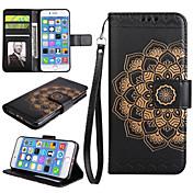 애플 아이폰 7 7 플러스 아이폰 6s 6 플러스 케이스 커버 만다라 패턴 pu 가죽 케이스 iphone 5s 5 se