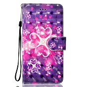 Etui Til Huawei P9 Lite Huawei Huawei P8 Lite Kortholder Lommebok med stativ Flipp Magnetisk Mønster Heldekkende etui Hjerte Hard PU