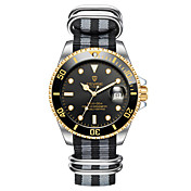 Hombre Reloj Deportivo Reloj Esqueleto Reloj de Moda El reloj mecánico Chino Cuerda Automática Calendario Resistente al Agua Luminoso