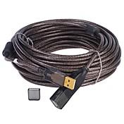USB 2.0 Cable de extensión, USB 2.0 to USB 2.0 Cable de extensión Macho - Hembra 10.0M (30 pies)