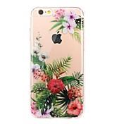 Etui Til Apple iPhone 7 Plus iPhone 7 Ultratynn Gjennomsiktig Mønster Bakdeksel Blomsternål i krystall Myk TPU til iPhone 7 Plus iPhone 7