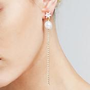 Dame Syntetisk Diamant Dusk / Lang Dråpeøreringer / Anheng - Personalisert, Mote, Euro-Amerikansk Gull / Sølv Til Julegaver / Bryllup / jubileum