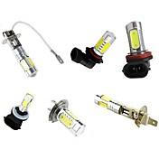 2 stk høy lyse 7,5w hvit dc12v h7 h3 h1 h8 h11 9005 9006 881 cob ledet med linsesving signal bremse stopp tåke dag løpende pære lampe for