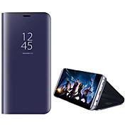 Funda Para Samsung Galaxy S8 Plus S8 con Soporte Cromado Espejo Flip Activación al abrir/Reposo al cerrar Funda de Cuerpo Entero Color