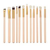 12pcs Pinceles de maquillaje Profesional Pincel para Sombra de Ojos / Cepillo de Cejas / Pincel Delineador Pelo Sintético Ecológica /