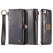 Caja para el iphone de la manzana 7 más la carpeta 7 del sostenedor de la tarjeta el cuerpo lleno magnético del color sólido 4s más 6 más