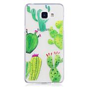 Funda Para Samsung Galaxy A5(2017) A3(2017) IMD Transparente Diseños Funda Trasera Flor Suave TPU para A3 (2017) A5 (2017) A5(2016)