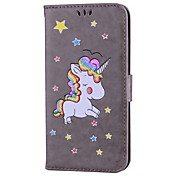 Funda Para Apple iPhone 7 Plus iPhone 7 Soporte de Coche con Soporte Flip Diseños Funda de Cuerpo Entero Unicornio Brillante Dura Cuero