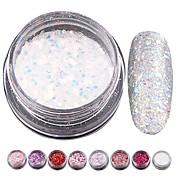 8pcs Brillante Lentejuelas arte de uñas Manicura pedicura Clásico / Brillante / Glamour Diario