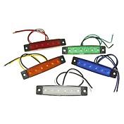 sencart 6led 2835smd blanco / rojo / verde / azul / amarillo de la lámpara del lado del freno coche marcador de los indicadores de la