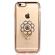 Etui Til Apple iPhone 6 iPhone 6 Plus Belegg Ringholder Gjennomsiktig Bakdeksel Helfarge Myk TPU til iPhone 6s Plus iPhone 6s iPhone 6