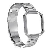 fitbit resplandor bandas con metal frameaustrake acero inoxidable bandas de repuesto con marco para fitbit blaze smart fitness reloj para