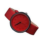 Mujer Cuarzo Reloj de Pulsera Reloj Casual Cuero Auténtico Banda Casual Moda Negro Blanco Azul Rojo Naranja Verde Rosa