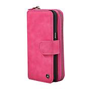 Etui Til Apple iPhone X / iPhone 8 Lommebok / Kortholder / Flipp Heldekkende etui Ensfarget Hard PU Leather til iPhone X / iPhone 8 Plus