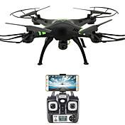RC Drone FLYRC X53 4 Kanaler 6 Akse 2.4G Med HD-kamera 1.0MP 1080P*720P Fjernstyrt quadkopter WIFI FPV Høyde Holding En Tast For Retur