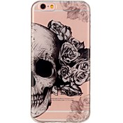Para iPhone 7 iPhone 7 Plus Carcasa Funda Ultrafina Diseños Cubierta Trasera Funda Cráneos Suave TPU para Apple iPhone 7 Plus iPhone 7