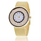 Mujer Cuarzo Reloj Pulsera Chino Cronógrafo Resistente al Agua Aleación Banda Encanto Destello Casual Elegant Moda Plata Dorado Oro Rosa