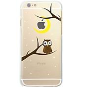 Funda Para Apple iPhone X / iPhone 8 Ultrafina / Transparente / Diseños Funda Trasera Búho / Árbol Suave TPU para iPhone X / iPhone 8 Plus / iPhone 8