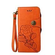 Etui Til Motorola Kortholder Lommebok med stativ Flipp Inngravert Heldekkende etui Blomsternål i krystall Hard PU Leather til Moto G5