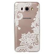 케이스 제품 Samsung Galaxy J7 (2017) J3 (2017) 크리스탈 울트라 씬 투명 패턴 뒷면 커버 레이스 인쇄 소프트 TPU 용 J7 V J7 Perx J7 (2017) J7 (2016) J7 J5 (2017) J5 (2016)