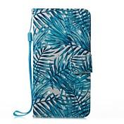 Etui Til Apple iPhone X iPhone 8 Plus Kortholder Lommebok med stativ Flipp Magnetisk Mønster Heldekkende etui Tre Hard PU Leather til