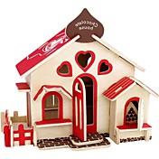 Puzzles 3D Puzzles de Madera Maquetas de madera Juguetes de construcción Casa 3D Clásico De moda Nuevo diseño Niños Manualidades Gran