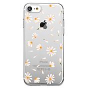 Etui Til Apple iPhone X iPhone 8 Mønster Bakdeksel Flise Blomsternål i krystall Myk TPU til iPhone X iPhone 8 iPhone 7 Plus iPhone 7