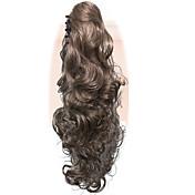 Con Clip Clásico Ondulado Ondulado Medio Coletas Alta calidad Gradiente de Color Fibra sintética Pedazo de cabello La extensión del pelo