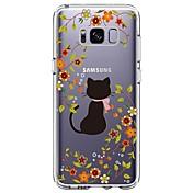 케이스 제품 Samsung Galaxy S8 Plus S8 울트라 씬 투명 패턴 뒷면 커버 고양이 꽃장식 소프트 TPU 용 S8 Plus S8 S7 edge S7 S6 edge plus S6 edge S6 S6 Active S5 Mini S5