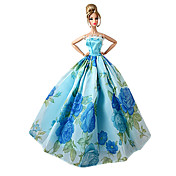 Princesa Vestidos por Muñeca Barbie  Morado Verde + azul + rosa + púrpura Poliéster Vestido por Chica de muñeca de juguete