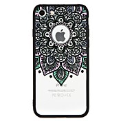 Funda Para Apple iPhone 7 Plus iPhone 7 Antigolpes Diseños Funda Trasera Mandala Impresión de encaje Dura ordenador personal para iPhone