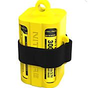 Battery Case / Boks til bagasjerom Multifunksjonell, Nedslags Resistent, Lett og praktisk til Camping & Fjellvandring / Camping / Vandring / Grotte Udforskning / Reise - Silikon 1 pcs Nitecore