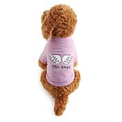 Hund Trøye/T-skjorte Hundeklær Bokstav & Nummer Bomull Kostume For kjæledyr