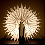 1pc Libro Luz de noche LED Blanco Cálido Baterías alimentadas Plegable Recargable Novedad creativa Luz decorativa