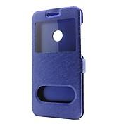 Etui Til Huawei P9 / Huawei P9 Lite / Huawei P8 P10 Lite / P10 Lommebok / med stativ / med vindu Heldekkende etui Ensfarget Hard PU Leather til P10 Plus / P10 Lite / P10