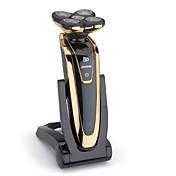 jinding rq-5580 barberhøvel vanntett fem blader elektrisk barbermaskin for menn med brett ladestasjon oppladbar