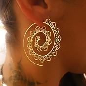 Mujer Pendients de aro - Ola Vintage Dorado / Plata Para Navidad / Boda / Fiesta