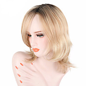 Syntetisk hår Parykker Bølget Naturlig hårlinje Med lugg Lokkløs Halloween parykk Celebrity Wig Festparykk Lolita Parykk Naturlig parykk