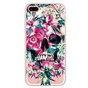Funda Para Apple iPhone X iPhone 8 Plus Diseños Funda Trasera Flor Cráneos Suave TPU para iPhone X iPhone 8 Plus iPhone 8 iPhone 7 Plus