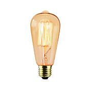 BriLight 1pc 40W E27 E26/E27 ST64 Blanco Cálido K Bombilla incandescente Vintage Edison AC 220-240V V