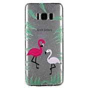 케이스 커버 Samsung Galaxy 용 S8 S7 뒷면 커버 반투명 엠보싱 텍스쳐 패턴 광택 동물 카툰 글리터 샤인 소프트 TPU S8 S7 S6 용