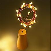 1m Lysslynger / LED Solcellebelysning 10 LED 1M strenglampe Varm hvit / Hvit / Multifarget Solar / Vanntett / Dekorativ <5 V 1pc / IP65