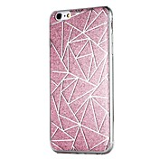 Etui Til Apple iPhone 6 iPhone 6 Plus iPhone 7 Plus iPhone 7 Gjennomsiktig Bakdeksel Geometrisk mønster Glimtende Glitter Hard PC til