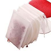 100 piezas no tejidas bolsas de té de tela con infusor de té cadena de filtro de filtro a base de hierbas
